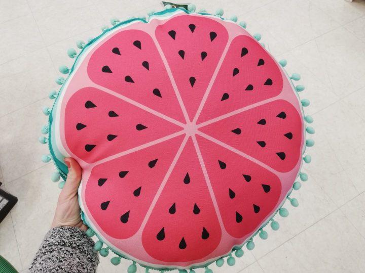 Dunelm Watermelon Cushions