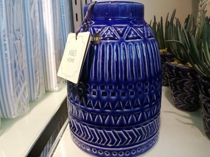 M&S Blue Vase