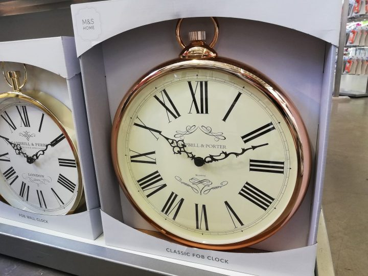 M&S Fob Clock