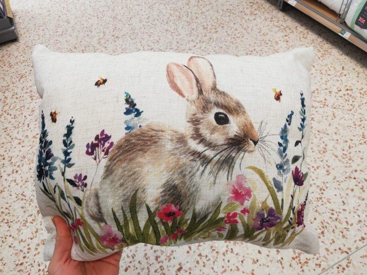 Morrisons Floral Flourish Range Rabbit Cushion